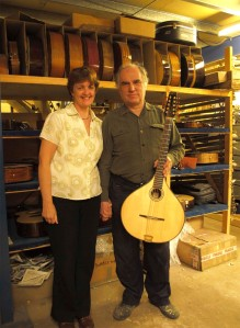 cittern builder Roger Bucknall and his wife