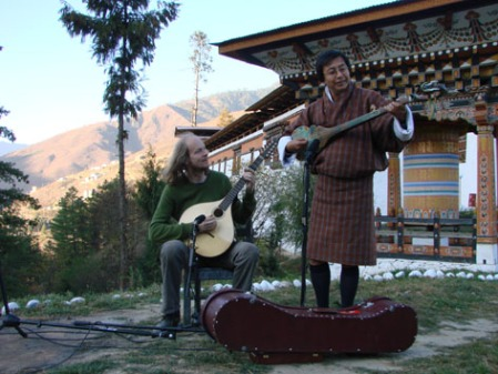 Bert and Jigme recording