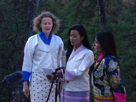 with Namkha and Lhamo
