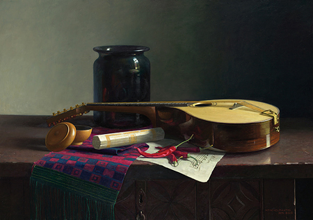 Henk Helmantel's still life painting of the cittern